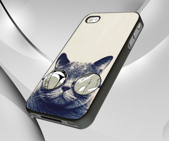 Cat Glasses Case Cover For IPhone 4 Or 4S